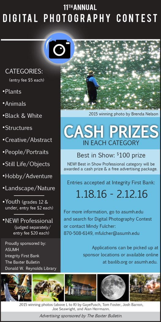 11th Annual Digital Photography Contest Accepting Entries Through