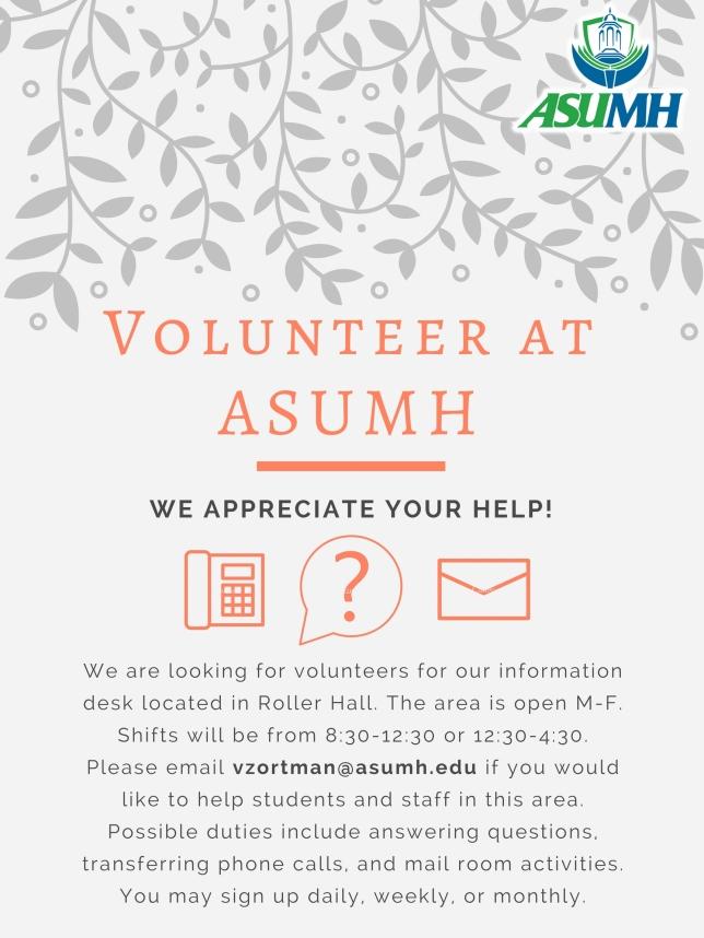Volunteer at ASUMH